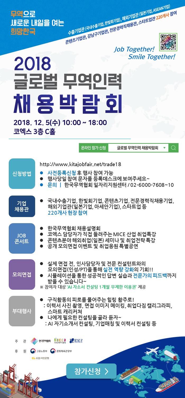 글로벌 무역인력 채용박람회 참가 안내